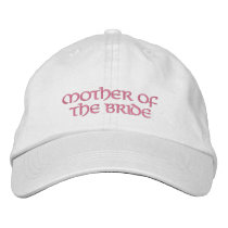 Mother of the Bride Cap-/pink Embroidered Baseball Hat