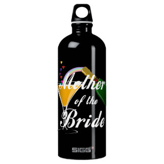 Mother Of The Bride Champagne Toast Aluminum Water Bottle