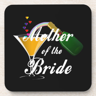 Mother Of The Bride Champagne Toast Beverage Coaster