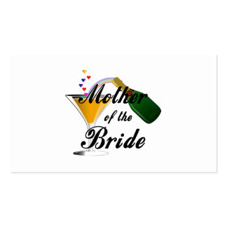 Mother Of The Bride Champagne Toast Business Card Template