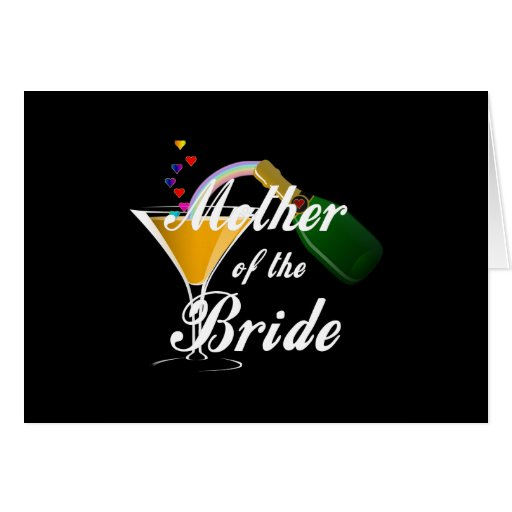 Mother Of The Bride Champagne Toast Cards