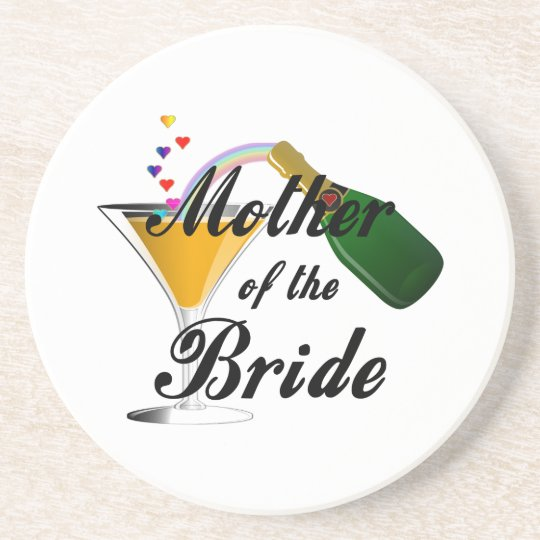 Mother Of The Bride Champagne Toast Coaster