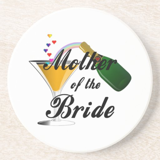Mother Of The Bride Champagne Toast Drink Coasters