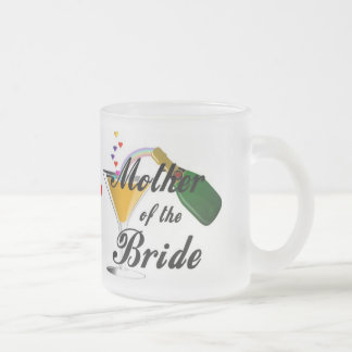 Mother Of The Bride Champagne Toast Frosted Glass Coffee Mug