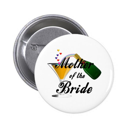 Mother Of The Bride Champagne Toast Pin