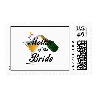 Mother Of The Bride Champagne Toast Postage Stamp