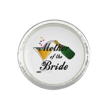 Bride Themed Mother Of The Bride Champagne Toast Ring