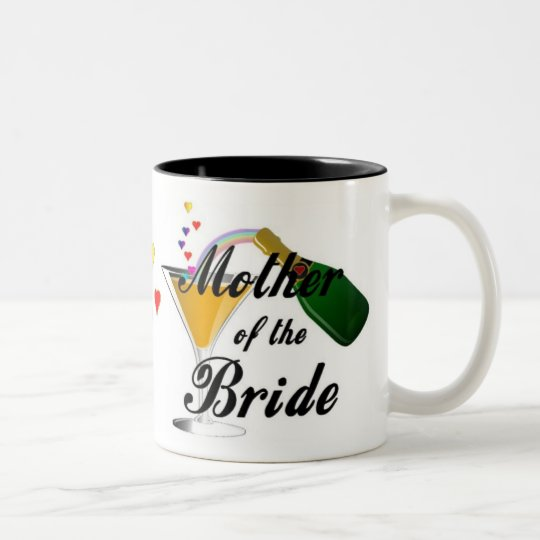 Mother Of The Bride Champagne Toast Two-Tone Coffee Mug