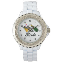 Mother Of The Bride Champagne Toast Wristwatch