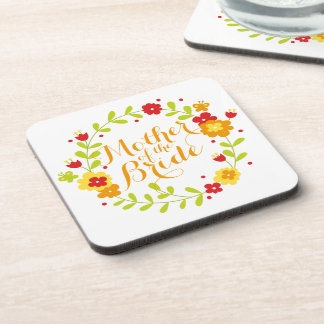 Mother of the Bride Cheerful Wreath Coaster