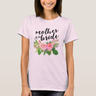 Mother of the Bride Chic watercolor Floral T-Shirt