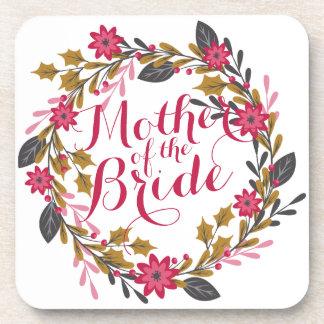 Mother of the Bride Christmas Wedding   Coaster