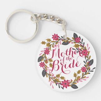 Mother of the Bride Christmas Wedding Keychain