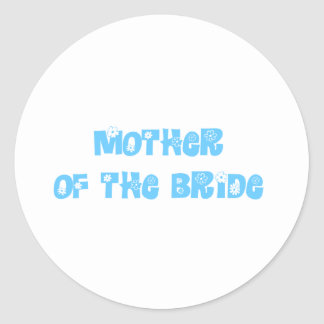 Mother of the Bride Classic Round Sticker