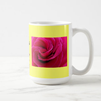 Mother of the Bride Coffee Mug Pink Rose Flowers