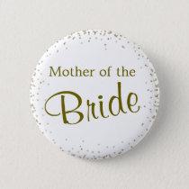 Mother of the Bride Confetti Pinback Button