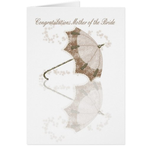 Mother of the bride Congratulations card with flow