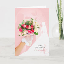 Mother of the Bride Congratulations in Pink Card