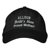 Mother of the Bride Custom Name BLACK Embroidered Baseball Hat