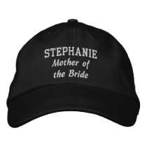 MOTHER OF THE BRIDE Custom Name V001 Embroidered Baseball Cap