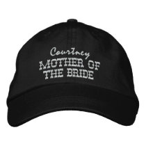 MOTHER OF THE BRIDE Custom Name V003 Embroidered Baseball Cap