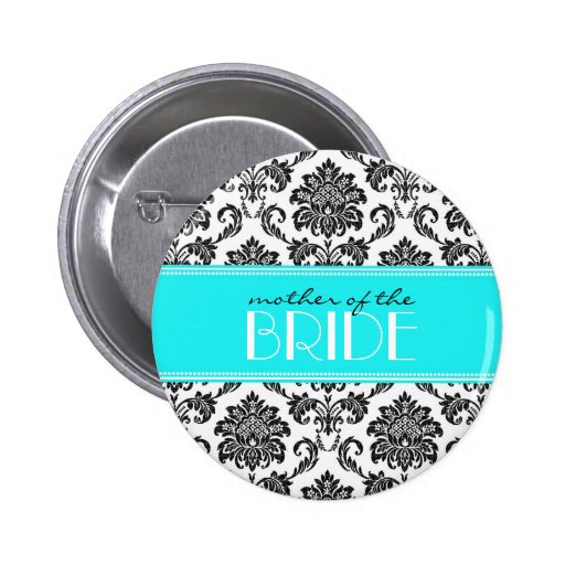 Mother Of The Bride Damask Button