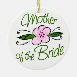 Mother of the Bride Double-Sided Ceramic Round Christmas Ornament