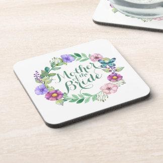 Mother of the Bride Elegant Floral Wedding Coaster