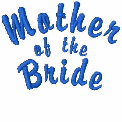 Mother of the Bride Embroidered Blue Polo