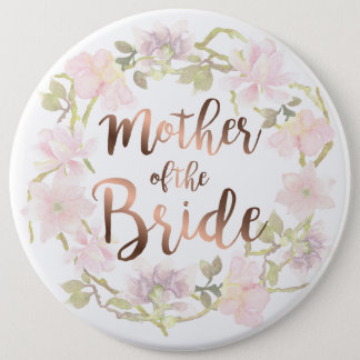 Mother of the Bride Floral Button