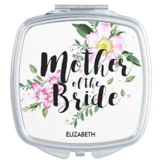 Mother of the Bride Floral Watercolor Wedding Vanity Mirror
