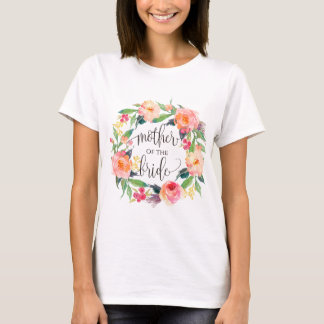 mother of the bride floral wreath -3 T-Shirt