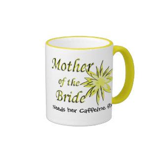 Mother of The Bride Funny Caffeine Fix Ringer Mug