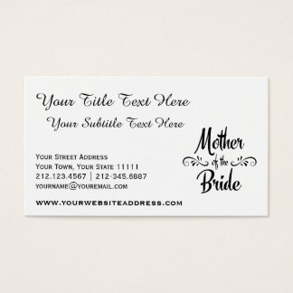 Mother of the Bride - Funny Rehearsal Dinner Business Card