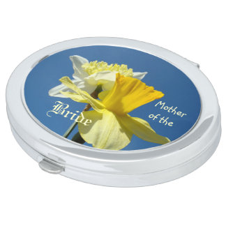 Mother of the Bride gifts Compact Mirrors Daffodil