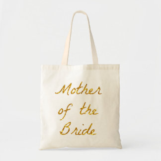 Mother of the Bride Gold Glitter Tote