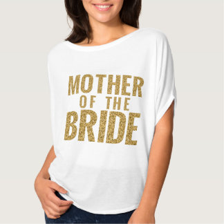 Mother of the Bride Gold SPARKLE Slouchy Tee