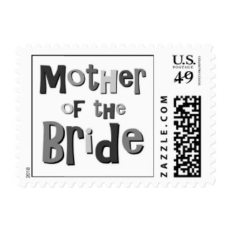 Mother of the Bride Gray Stamp