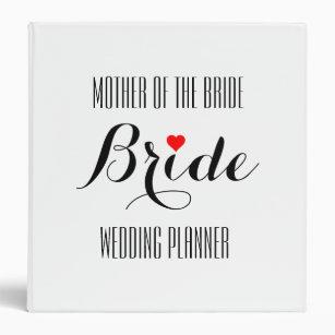 Mother Of The Bride Heart Wedding Planner Binder