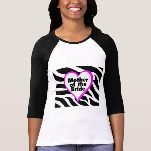 Mother of the Bride (Heart Zebra Print) Tee Shirts