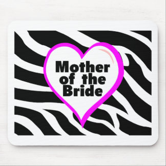 Mother of the Bride (Heart Zebra Stripes) Mouse Pad