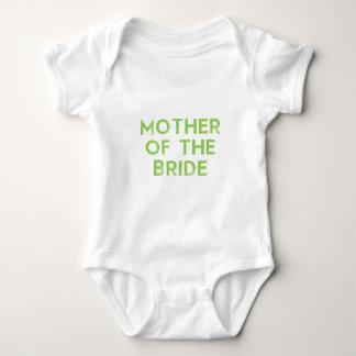 Mother of the Bride in Green Baby Bodysuit