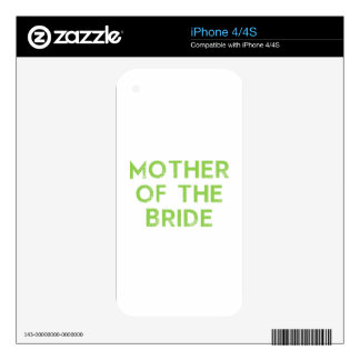 Mother of the Bride in Green iPhone 4S Decal