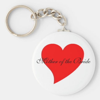 """Mother of the Bride"" keychain"