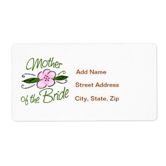 Mother of the Bride Label