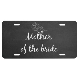 Mother of the Bride License Plate