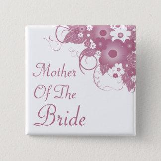 Mother Of The Bride Mauve Bouquet Button