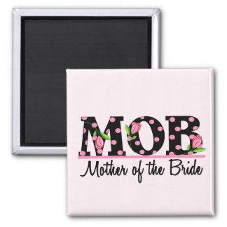 Mother of the Bride (MOD) Tulip Lettering 2 Inch Square Magnet
