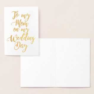 Mother Of The Bride Or Groom Wedding Thank You Foil Card at Zazzle