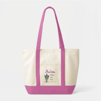 Mother of the Bride Peacock Feather Teal and Pink Tote Bags